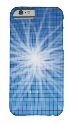 White light burst blue skyscraper iPhone 6 case