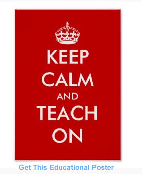 Keep Calm and Teach On educational poster. Get one for yourself now.